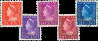 Nederland - Cour de Justice 1947 (nr. D20-D24, gebruikt)