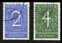 Nederland - Cour de Justice 1950 (nr. D25-D26, gebruikt)