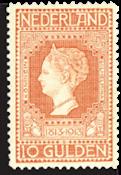 Jubileumzegel 1913 10 gld roodoranje (nr. 101, ongebruikt)