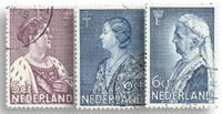 Netherlands 1934 - NVPH 265-266+269 Cancelled