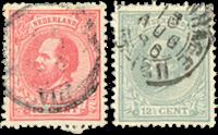Netherlands 1872-1888 - NVPH 21-22 - Cancelled