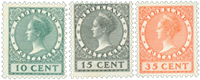 Netherlands 1924 - NVPH 136-138 - Unused
