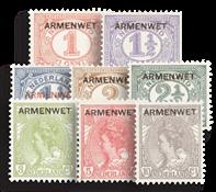 Nederland - Opdruk Armenwet 1913 (nr. D1-D8, postfris)