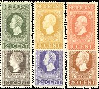 Netherlands 1913 - NVPH 90-95 - Unused