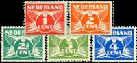 Netherlands 1924-1925 - NVPH 144-148 - Unused