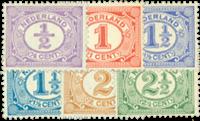 Netherlands 1899-1913 - NVPH 50-55 - Mint