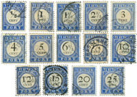 Netherlands 1894 - NVPH P13-P26 - Cancelled