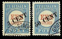 Hollanti - NVPH P27-P28 - Leimattu
