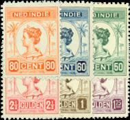 Netherlands 1913-1931 - NVPH 129-134 - Unused