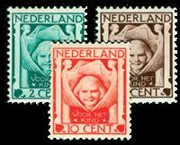Netherlands 1924 - NVPH 141-143 - Mint