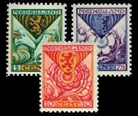 Netherlands 1925 - NVPH 166-68 - Mint