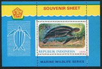 Indonesia - Animals - Mint souvenir sheet
