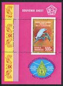Indonesia - Birds - Mint souvenir sheet