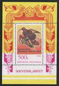 Indonesia - Paradise birds - Mint souvenir sheet