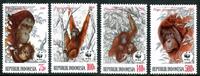 Indonesia - WWF monkeys - Mint set 4v