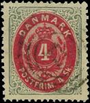 Danmark 1870 - AFA nr.18 - stemplet