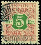 Danmark avisporto 1907 - AFA nr.9 - stemplet