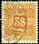 Danmark avisporto 1914-15 - AFA nr.18 - stemplet