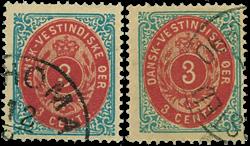 Dansk Vestindien 1873-74 - AFA nr.6,y - stemplet