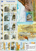 Tajikistan 22 different stamps and 4 different souvenir sheets