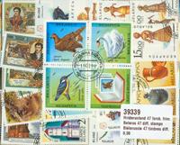 VALKO-VENÄJÄ - 47 erilaista postimerkkiä