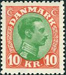 Danmark Chr. X 1927-28 - AFA nr.177 - Ustemplet