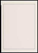 Neutrale Albumblade A4 - Hvid med sort rammelinie - Pakke med 40 stk.