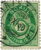 Norway 1877-78 - AFA no. 26 cancelled