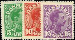 Danmark 1913 - AFA nr.68-70 - Postfrisk