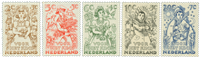 Nederland 1949 - Nr. 544-548 - Postfris