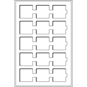 Møntindsats til kuffert - Blå - 15 inddelinger