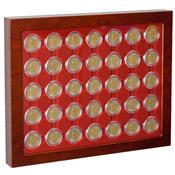 Præsentationsæske til 2-euro mønter med kapsler