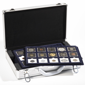 coin case CARGO L 6 for 90 QUADRUM-coincapsules, incl. 6 coin trays, black