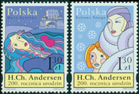 Polen - H.C. Andersen - Postfrisk sæt 2v