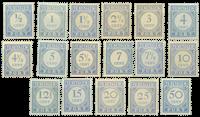 Nederland - Port cijfer en waarde in blauw (nr. 44-P60, ongebruikt)