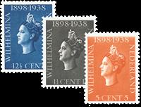 Netherlands 1938 - NVPH 310-312 - Mint