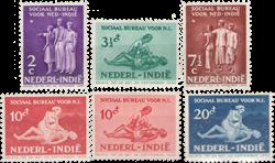 Nederland Indië - Sociaal Bureau 1939 (nr. 266-271, postfris)