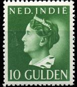 Nederland Indië - 10 gld lichtgroen 1941 (nr. 288,  ongebruikt)