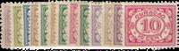 Curacao - Cijferserie 1915-1931 (nr. 44-56, ongebruikt)