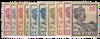 Curacao - Koningin Wilhelmina 1915-1926 (nr. 57-67, ongebruikt)