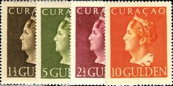 Curacao - Koningin Wilhelmina Konijnenburg 1947 (nr. 178-181, postfris)