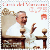 Vatican - 100 year of the Pope - Mint stamp