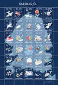 Faroe Islands - JULBOGEN 2012 XMAS - Christmas Seal Sheet