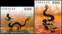 Curacao - Dragens år - Postfrisk sæt 2v