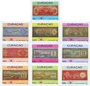 Curacao - Paper money 2011 - Mint set 10v