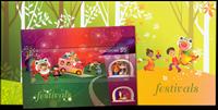 Singapore - Festivals 2012 - Mint souvenir sheet in folder