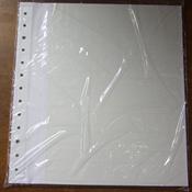 Alpha indstikskort - Hvidt karton og pergamynstriber - Udelt - 5 stk.