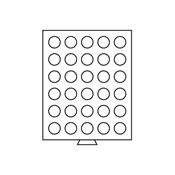 Leuchtturm møntboks - Rund - 30 rum - Max diameter  36 mm