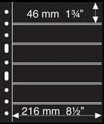 Pochettes plastiques GRANDE, 6 Bandes horizontales, noires, de Leuchtturm