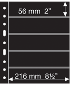 Grande A4 lommer - 5 S - Sort - Pakke med 5 stk. fra Leuchtturm